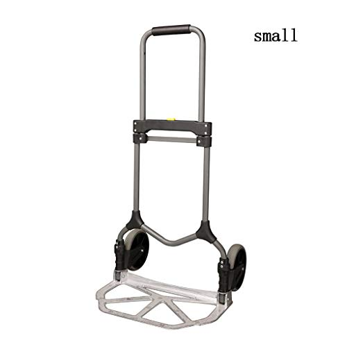 Cart Faltung Tragbare Handhabung Ziehen Ladung König Anhänger Fischkarren Aluminiumlegierung Bewegen Kleine Trolley (Size : S) ()