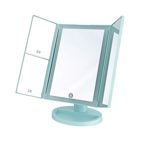 TOMNEP Espejo de cortesía para Maquillaje con iluminación LED y Pantalla táctil,...