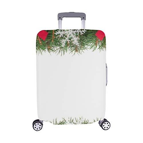 Christmas Rahmen aus Tanne filialen verziert Foto Muster Spandex Trolley Fall reisegepäck auf 28,5 x 20,5 cm beschützer Koffer