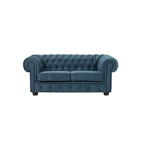 BMF Chesterfield türkis Qualität 321-Sitzer-Sofa Bett Suite Set in Kunstleder oder Stoff–Elegance Line–Jeder Farbe