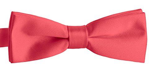 BomGuard Fliege für Herren lachs I Männer Fliege für Hochzeit, Party oder edele Anlässe I Trendy Bow Tie I Schleifen schmale Fliege Gold Bow Tie