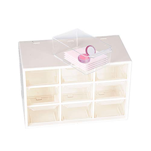 3 Schichten 9 Schubladen Schmuckkasten Ohrringe Aufbewahrungsbox Schmuck Schmuckkästchen Damen Schmuckschatulle Ring Box Ringbox Ketten Aufbewahrung Ringe Armband Kette Transparent -