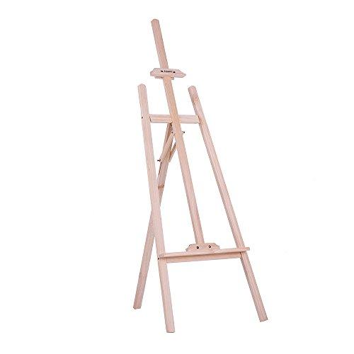 Aibecy 150 cm / 59 Zoll Dauerhaft Holz Staffelei, Künstlerprofi, Tischstaffelei, NZ Kiefer für Künstler Malerei Skizzieren Ausstellung