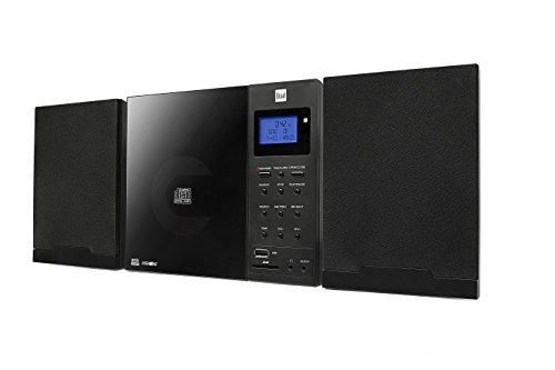 Dual Vertical DAB 102 Schwarz Stereo Kompaktanlage mit Digitalradio (DAB+/UKW-Tuner, CD-Player MP3 Weckfunktion, Kopfhöreranschluss (3,5mm Klinke) SD-Kartenslot, USB) schwarz