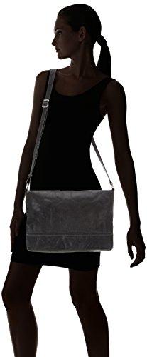 Gerry Weber Donna Lugano Flap Bag L borsa Nero (Nero (Black 900))