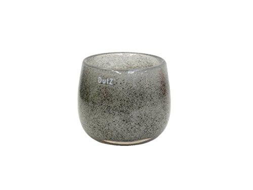 Glasvase / Übertopf Dutz POT md1 H14 D16 new grey / grau Glas Vase