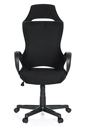 hjh OFFICE 621946 Silla Gaming Racer F1 Tejido Negro Silla de Escritorio Silla de Oficina