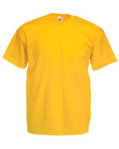 Gelb L/s Shirt (Fruit of the Loom T-Shirt S-XXXL in verschiedenen Farben L,sonnenblumengelb L,Sonnenblumengelb)