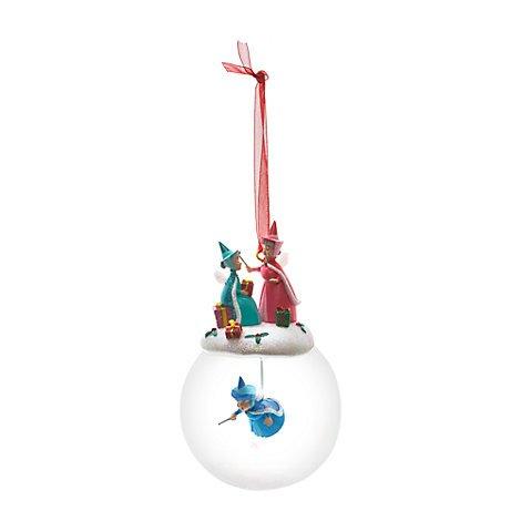 Dale Disney Kostüm Chip Und - Unbekannt Fairy godmothers Weihnachtskugelset, Sleeping Beauty, offizielles Disney Weihnachten Ornament