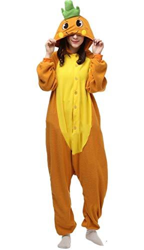 DATO Pyjama Tier Onesies Karotte Erwachsene Kigurumi Unisex Cospaly Nachtwäsche für Hohe ()
