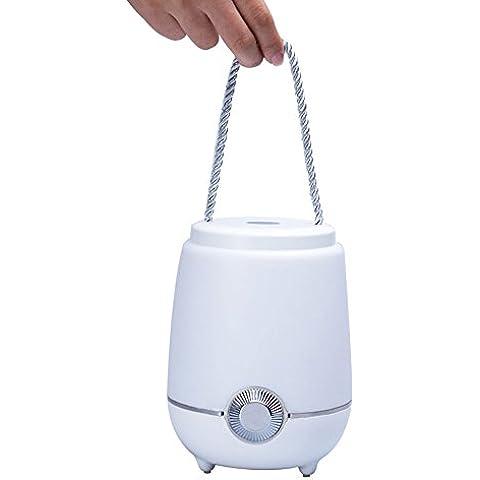 NiceEshop (TM) Multi colore Intelligent luce notturna e musica Player, Built-in 2000mAh grande capacità, LED lampada da comodino mobili, Roman tavoli lampada d' atmosfera, luce di emergenza Weiß Licht