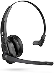 TaoTronics Trucker Bluetooth Headset with Microphone, Wireless Cell Phone Headset Noise Cancelling Mic, On Ear