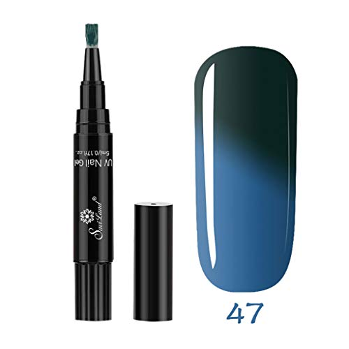 Watopi One Step Vernis à ongles gel Pen, sans base top coat besoin, 3 en 1 Soak Off UV