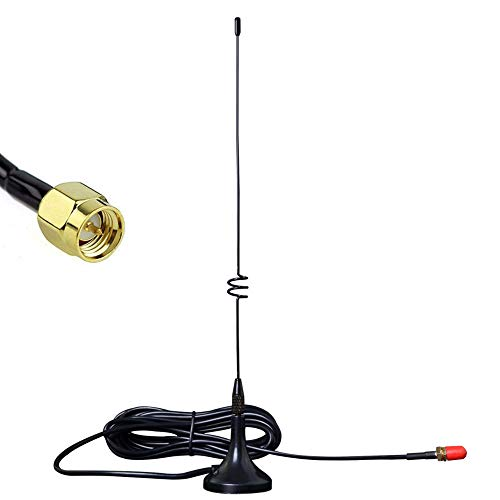 Mobile Antenna Dual Band VHF UHF EasyTalk UT-108UV Mini High Gain Long Range Antennas for Car Radio Transceiver Yaesu Kenwood HYT Vertex Wouxun Baofeng TYT (UT-108UV SMA-M) -