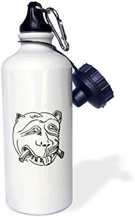 GFGKKGJFD612 Susans Zoo Crew Urlaub - Hund Türklopfer Löwe Vintage Jagged Drawing Weiß Aluminium Sport Wasserflasche Neuheit Geschenk