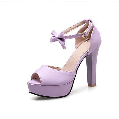 LvYuan Sandali-Formale Casual Serata e festa-D'Orsay-Quadrato-Finta pelle-Blu Rosa Viola Bianco Purple