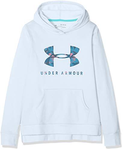 Under Armour Mädchen Oberteil Rival Print Fill Logo Hoodie, Blau, YSM, 1343622-460