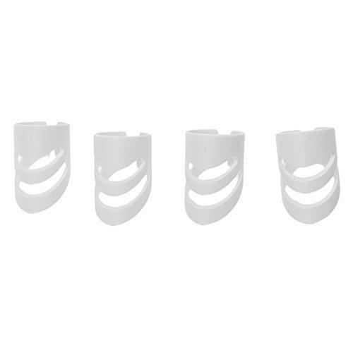 Kcopo Fingerschutz Kunststoff Finger Sack Fingerschutz Fingernagel Fingerspitze Schutz Rechte Hand Für Gitarre Basis 4 Stück Weiß -