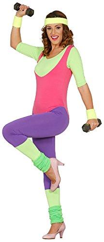 * NEW * Ladies 80s Workout Dance Leotard Costume. Size 10-14