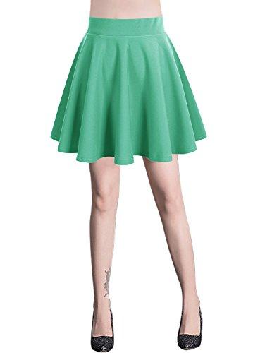 Bridesmay Donna Gonna Vita Alta Casual Solida Colore Mini Gonna Mint