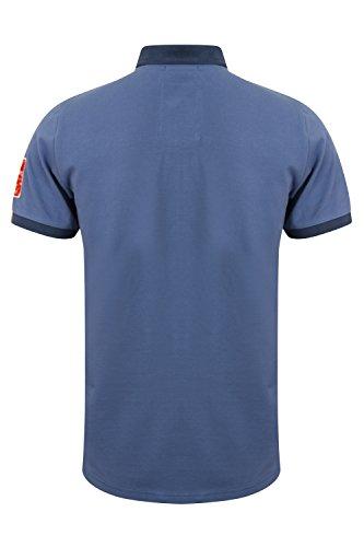 Tokyo Laundry Herren Blusen Poloshirt, Einfarbig Downton - Dutch Blue
