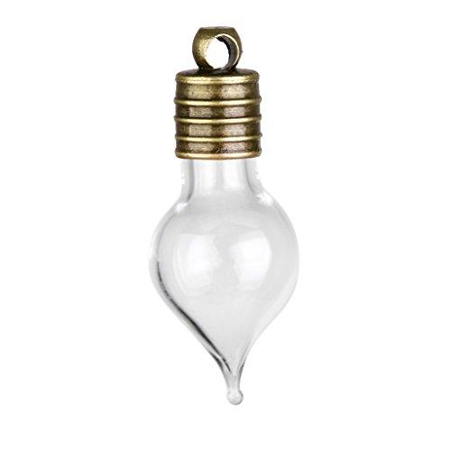 Mini Leere Glas Teardrop Anhänger Charme Fläschchen Wünschen Flaschen 10 Stk. Klar