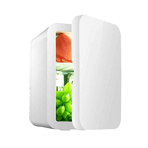 Lyy - 8866 8L Auto Kühlschrank Mini Geschenk Kühlschrank Kosmetik Muttermilch gekühlt / 12V / Test für Auto Dual-Use (Farbe : Weiß)