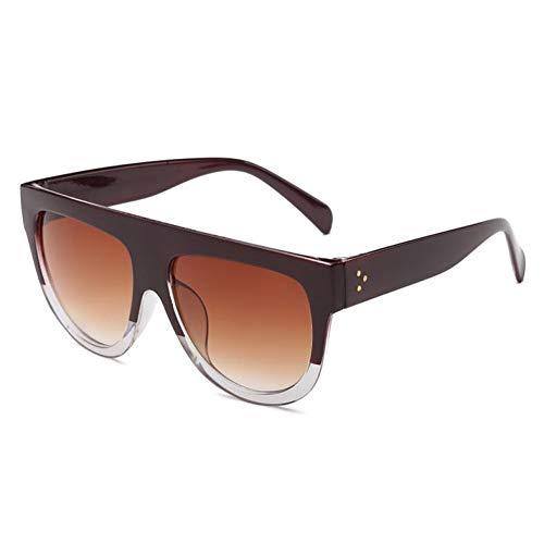 HYUHYU Flat Top Sonnenbrille Frauen Große Marke Sonnenbrille Vintage RetroWeibliche Brillen Sonnenbrillen