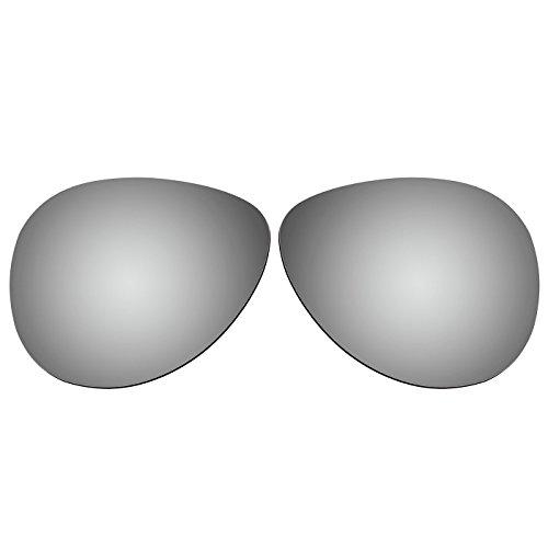ACOMPATIBLE Ersatz Linsen für Oakley Caveat oo4054Sonnenbrille, Titanium Mirror - Polarized