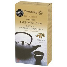 Clearspring Organic Japanese Green Tea with Roasted Rice Genmaicha tea bags/box (20×2.5g)