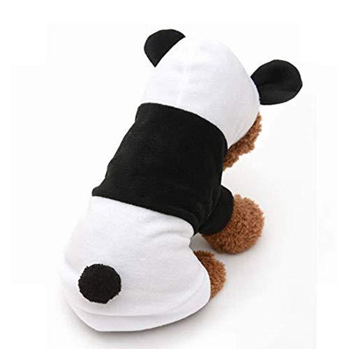 NKLD Pet Puppy/Cat Kleidung Kostüm Kleidung, Anzieh Katze/Hund Kostüme, Cute Pet Woolen Schwarzweiß Panda Kostüm, Pullover Warme Jacke Outwear für Welpen Dressing - Pet Panda Kostüm
