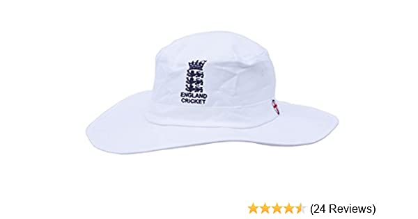 HIGH QUALITY MENS LARGE XL WHITE CRICKET SUNHAT WITH ENGLAND LOGO 60CM   Amazon.co.uk  Sports   Outdoors f9bf0d59d13e