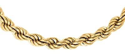 Carissima Gold 9 ct Yellow Gold Hollow Rope Chain