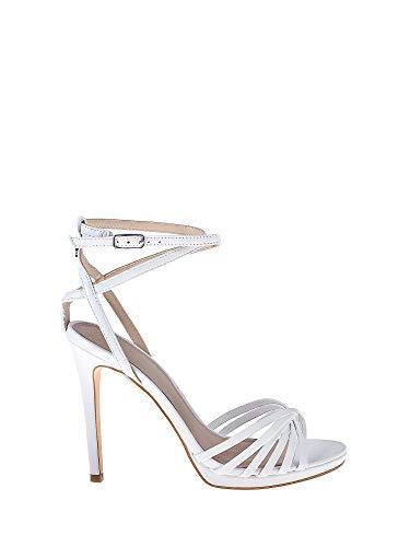 Guess Tonya (Sandal)/Leather, Scarpe con Cinturino alla Caviglia Donna, Bianco, 38 EU