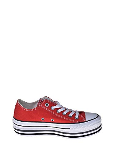 2converse rosse donna 37
