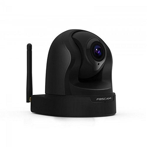 Foscam fi9826p/b telecamera ip 1.3 mp hd, h.264, motorizzata, zoom x3, wireless, p2p, visore notturno, 70º, slot micro sd, rilevatore movimenti, nero