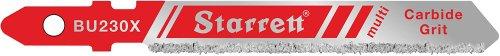 Starrett BU230x-2Bi-Metall Einzigartige Unified Schaft Mehrzweck-Karbid-Körnung Jig Sägeblatt, grob Zahn, 0,1cm Dick, grob, 7,6cm Länge x 5/40,6cm Breite (2Stück)