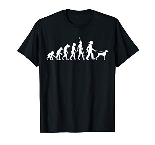 Weimaraner Evolution Gassi Gehen Hunde T-Shirt -