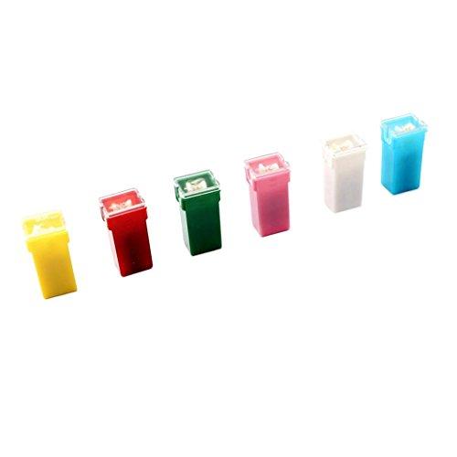 Homyl 6pcs Fusibles Femelle Standard Carrés 32v 20a 25a 30a 40a 50a 60a F2824-z