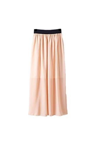 Falda de gasa largo cambio de Yacun las mujeres Nude One Size