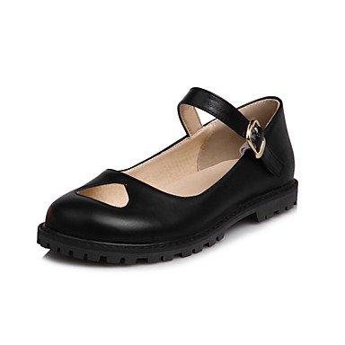 Confortevole ed elegante piatto scarpe donna Appartamenti Primavera Estate Autunno altri Casual in similpelle tacco piatto fibbia nera Beige rosa Black