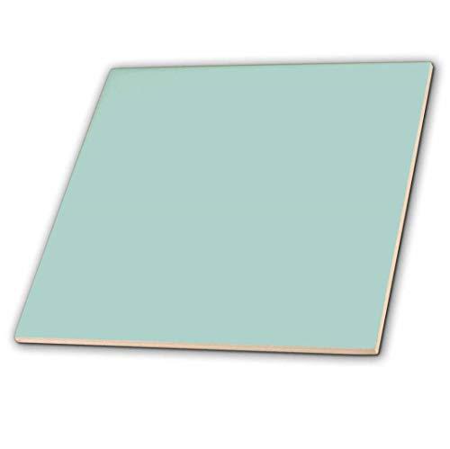 2Uni Mint blau Farbe Licht Turquoise-Grey-Gray modernes einfach Pastell Blaugrün Keramik Fliesen, 15,2cm ()