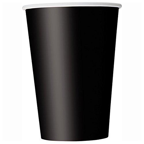 Unique Party - 32046 - Paquet de 14 Gobelets en Carton - 266 ml - Noir