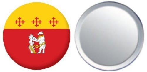 Miroir insigne de bouton Angleterre Warwickshire drapeau - 58mm
