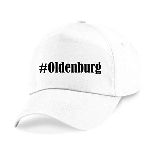 Reifen-Markt Base Cap Hashtag #Oldenburg Größe Uni Farbe Weiss Druck Schwarz