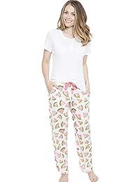 5a56ab6bbc Amazon.it: pigiama donna - Bianco / Pigiami e camicie da notte ...