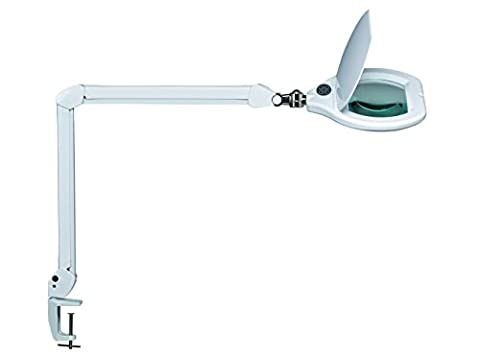 MAUL maulcrys Vallée A, LED Lampe loupe à intensité variable, métal, 17Watts, blanc, 84x 26x 51cm