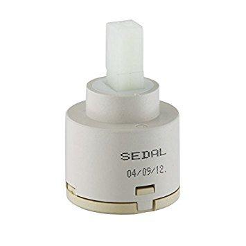 'KES Cartouche de poignée simple robinet de rechange valve à disques en céramique Sedal, fabriquée en Europe