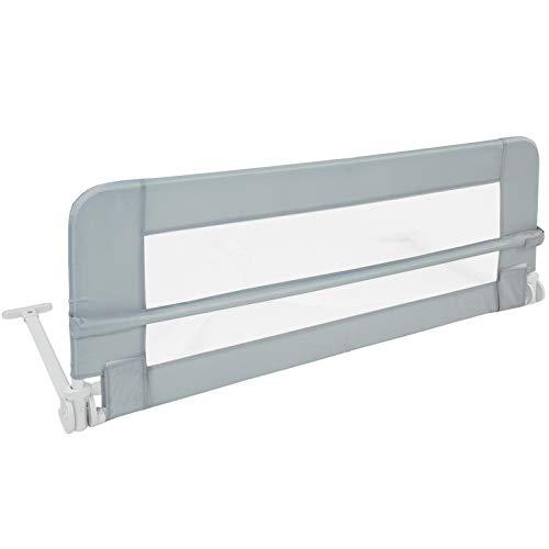 Kinder-Bettgitter Bettschutzgitter 102 cm Kinderbett Fallschutz in Grau Farbwahl