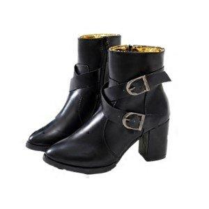 KHSKX-Talon De Chaussures À Talons Hauts Les Bottes Chelsea De Bottes La Boucle De Ceinture Du Vent Et Anglais Thirty-nine